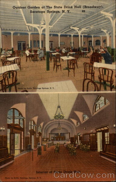 State Drink Hall, Interior and Outdoor Garden Saratoga Springs New York