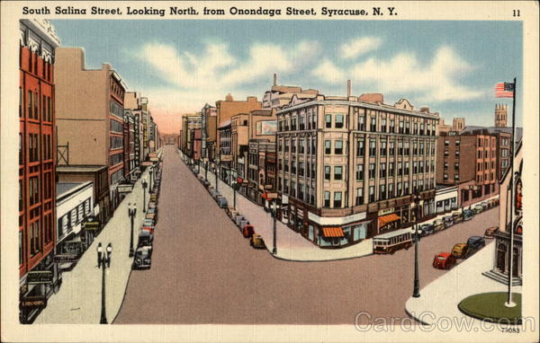 South Salina Street, Looking North From Onondaga Street Syracuse New York