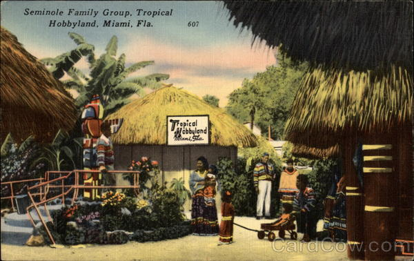 Seminole Family Group, Tropical Hobbyland, Miami. Florida