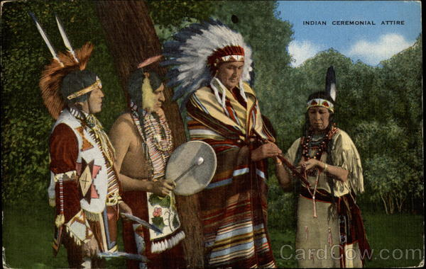 Indians in Ceremonial dress Native Americana