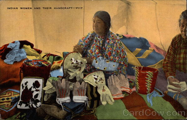Indain Women and their Handcraft Native Americana
