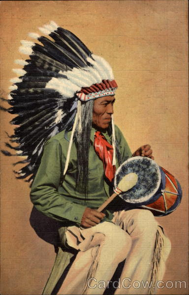 Pueblo Indian Drummer Santa Fe New Mexico Native Americana