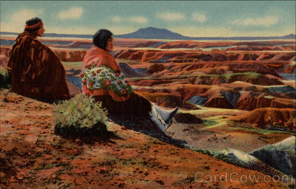 Hopi Indians On the Edge of the Painted Desert Native Americana