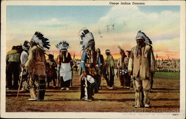 Osage Indian Dancers Native Americana
