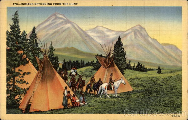 Indians Returning from the Hunt Native Americana