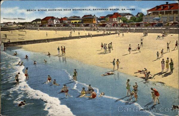 Beach Scene Showing Near Boardwalk