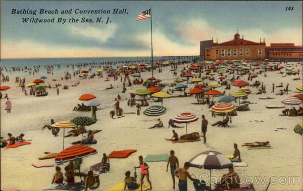Bathing Beach and Convention Hall Wildwood-By-The-Sea New Jersey