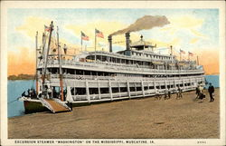 "Excursion Steamer ""Washington"" on the Mississippi"