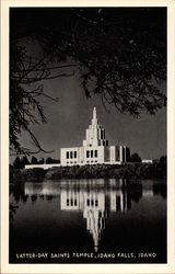 Latter-Day Saints Temple, Idaho Falls, Idaho Postcard