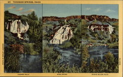 Juniper Falls, Wing Spring, Minnie Miller Falls, Thousand Springs