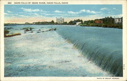 Idaho Falls of Snake River Postcard