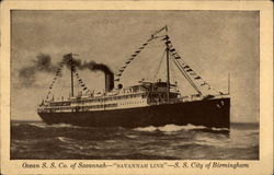"Ocean S.S. Co. of Savannah--""Savannah Line""--S.S. City of Birmingham"