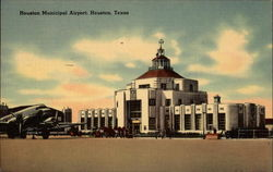 Houston Municipal Airport Postcard