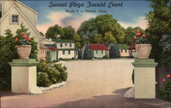 Sunset Plaza Tourist Court Postcard