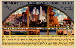 The Story of the West P.G. and E. Exhibit Golden Gate International Exposition