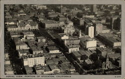 Aerial View, Portion of Stockton, California