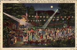 Amphitheatre and Dancing Under the Stars, Scaroon Manor on Schroon Lake