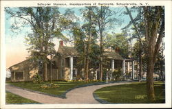 Schuyler Mansion, Headquarter of Burgoyne