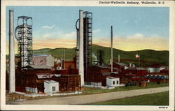 Sinclair-Wellsville Refinery Postcard