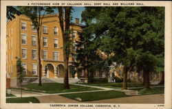 A Picturesque View of Callanan Hall, Eddy Hall and Williams Hall