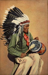 Pueblo Indian Drummer