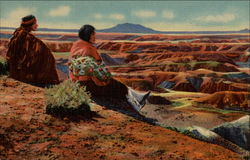Hopi Indians On the Edge of the Painted Desert