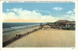 Boardwalk, Casino and Bathing Beach on the Atlantic Ocean