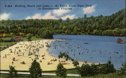 Bathing Beach and Lake At Fairy Stone State Park