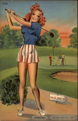 "Beautiful Woman on Golf Course ""Winsome"""