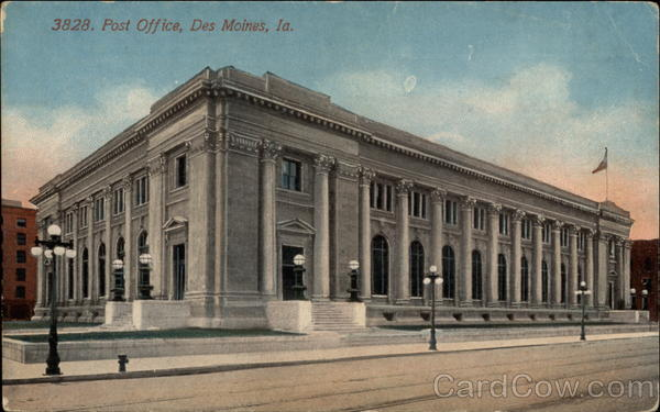3828 Post Office Des Moines Iowa