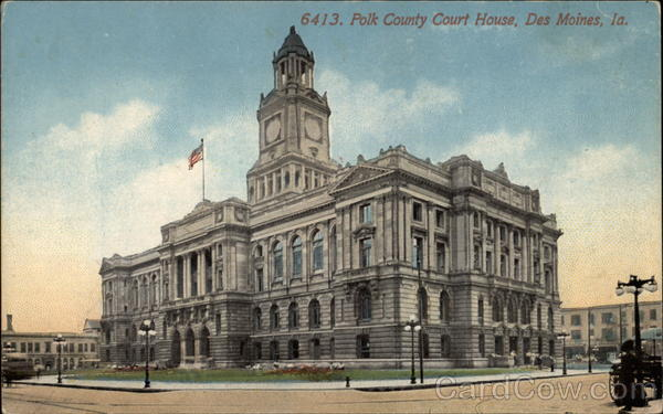 Polk County Court House Des Moines Iowa