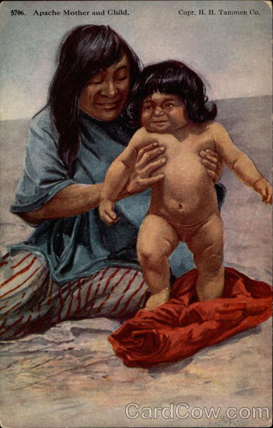 Apache Mother and Child Native Americana