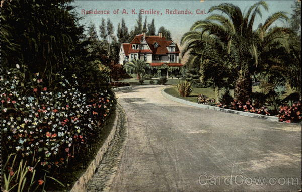 Residence of A.K.Smiley Redlands California