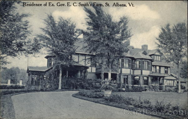 Residence of Ex Gov. E. C. Smith's Farm St. Albans Vermont