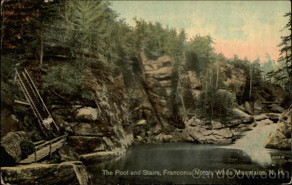 The Pool and Stairs, Franconia Notch White Mountains New York