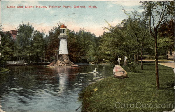Lake and Light House, Palmer Park Detroit Michigan