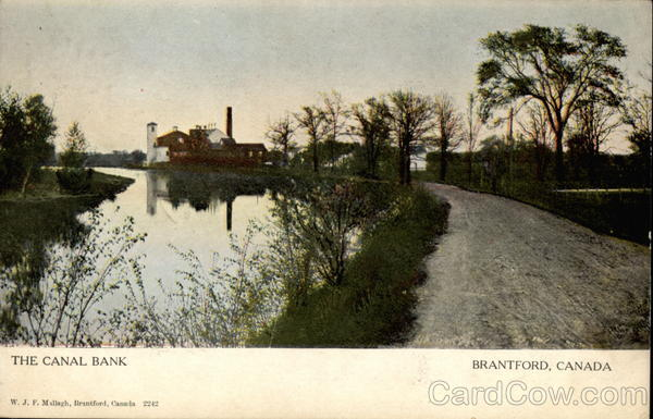 The Canal Bank Brantford Canada Ontario