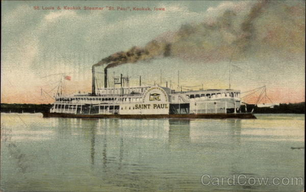 St Louis and Keokuk Steamer St. Paul Iowa