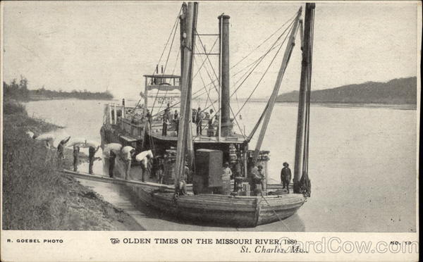 Olden times on the missouri river 1880 st charles mo for T shirt printing st charles mo