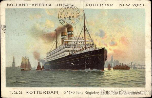 Holland-American Line T.S.S. Rotterdam New York