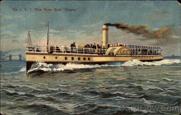The L. C. C. New River Boat Sloane. Boats, Ships