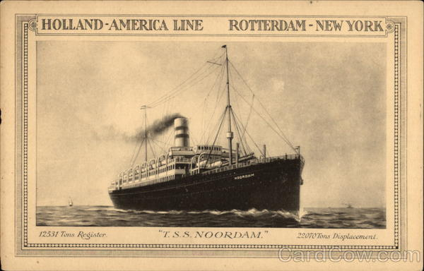 Holland-America Line Rotterdam New York
