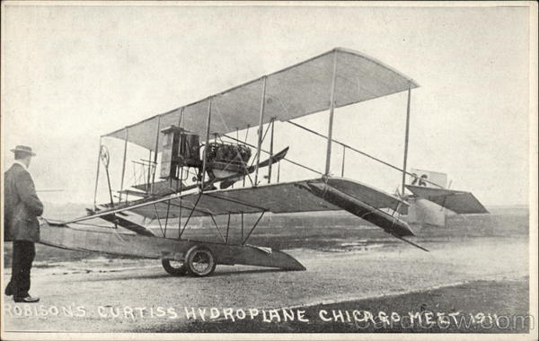 Robison's Curtiss Hydroplane Chicago Meet 1911 Aircraft