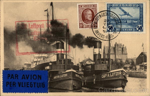 The Port of Antwerp Belgium Benelux Countries Commemorative Cancels