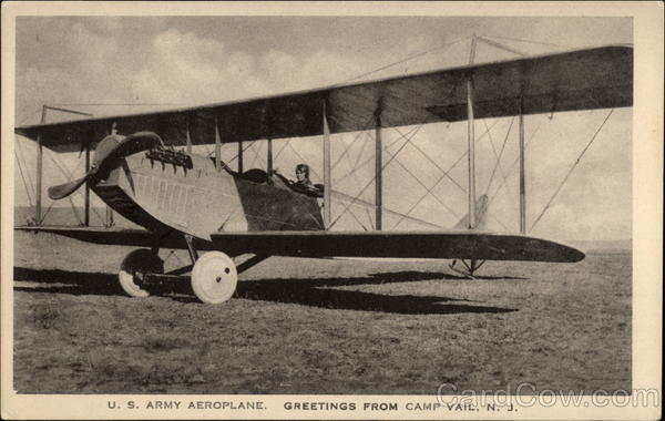 U.S. Army Aeroplane. Greetings from Camp Vail New Jersey