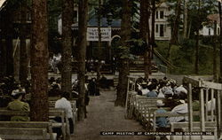 Camp Meeting at Campground Postcard