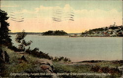 Evergreen Landing, Pumpkin Knob and Long Island from Great Diamond Island