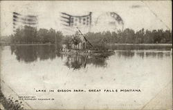 Lake in Gibson Park Postcard