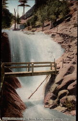7102 First Falls of the Seven Falls Postcard