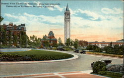 General View University Grounds, showing Campanile, University of California